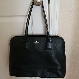 kate spade marybeth leather tote w/laptop sleeve